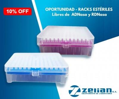 Oportunidad: Racks estériles libres de ADNasa y RDNasa