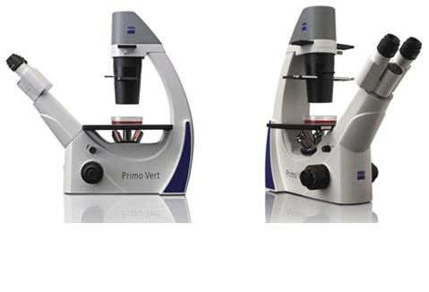 Microscopio invertido binocular, para campo claro y contraste de ...