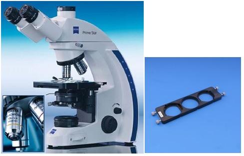 Microscopio Trinocular con iluminación LED para contraste de fase ...