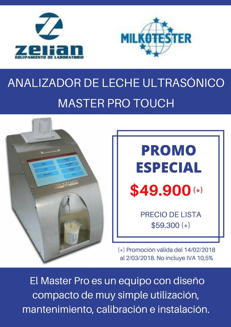 ANALIZADOR DE LECHA ULTRASÓNICO Milkotester Zelian equipamiento laboratorios
