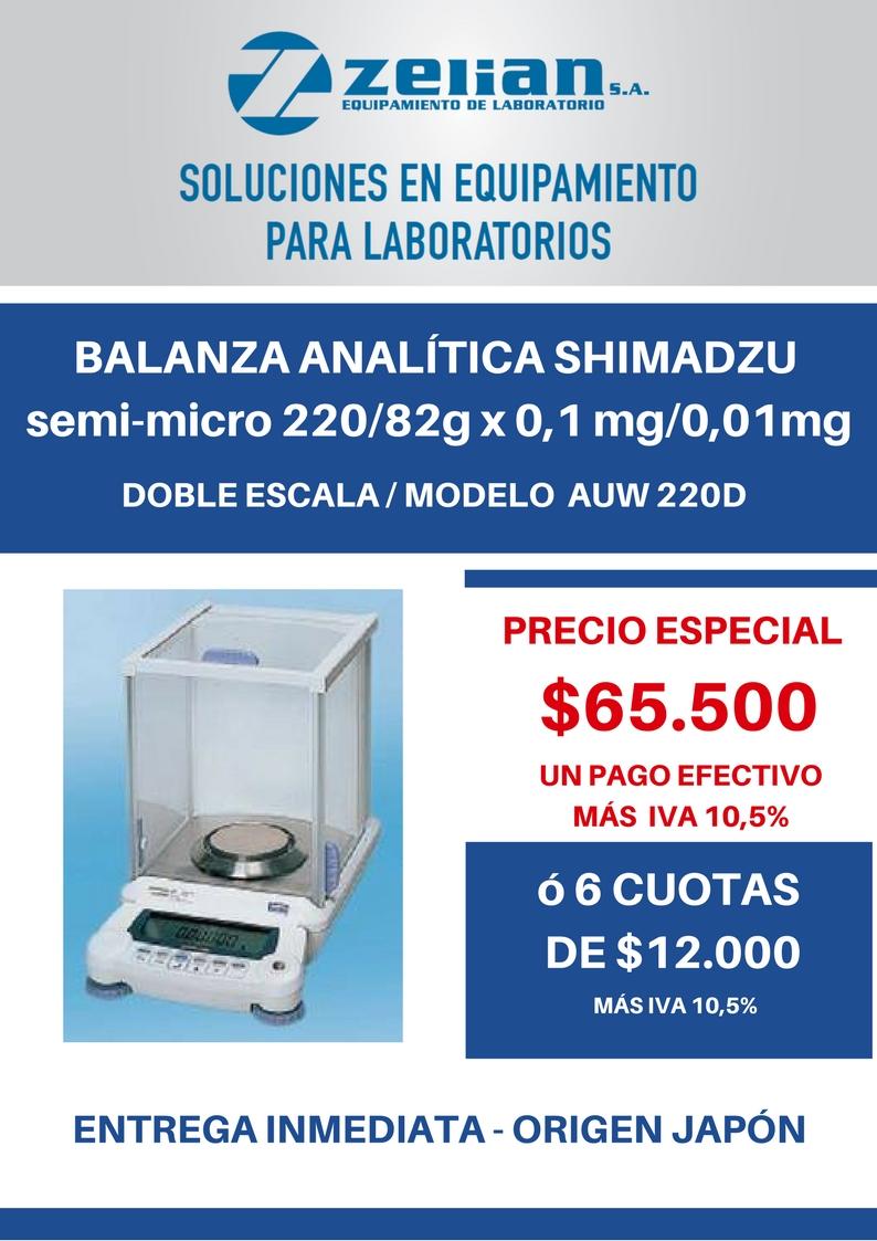 Balanza analítica auw 220d Shimadzu Zelian equipamiento para laboratorios