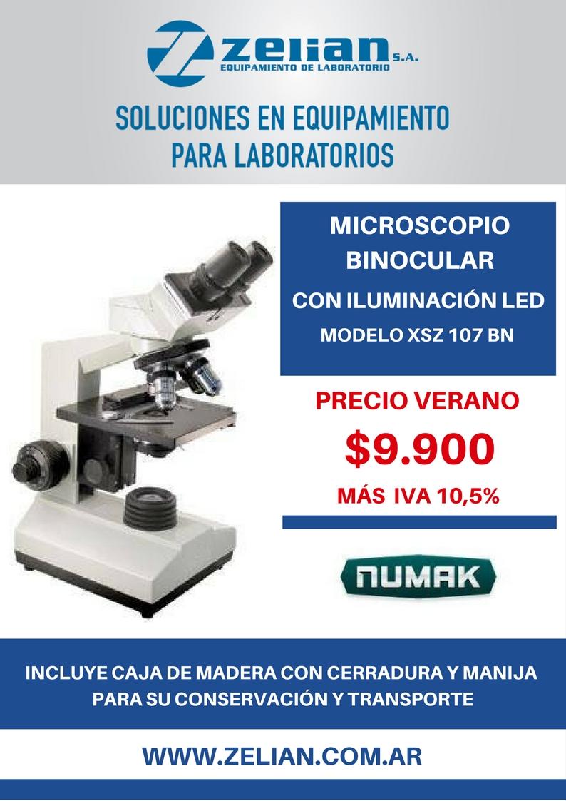 MICROSCOPIO BINOCULAR CON ILUMINACIÓN LED Zelian equipamiento para laboratorios