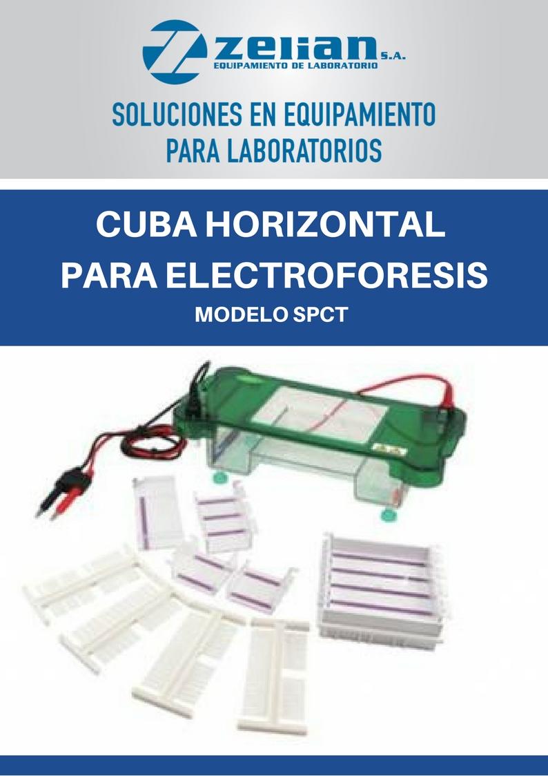 Cuba horizontal para electroforesis Zelian equipamiento para laboratorios