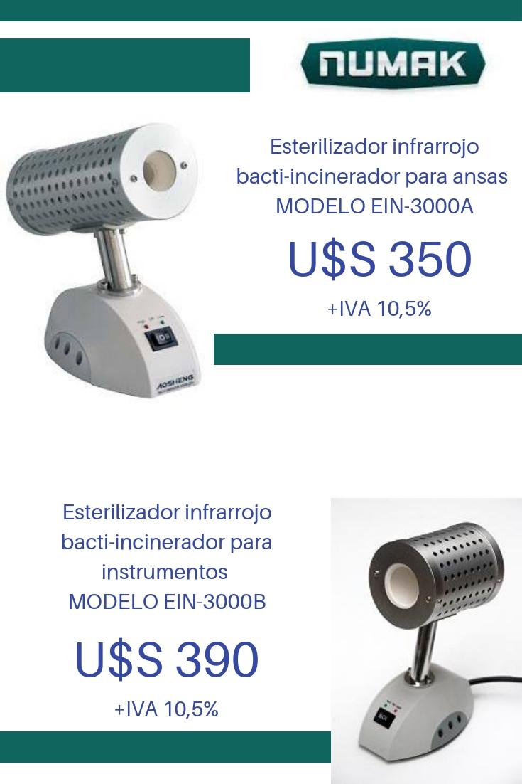 Esterilizador infrarrojo bacti-incinerador para ansas para instrumentos
