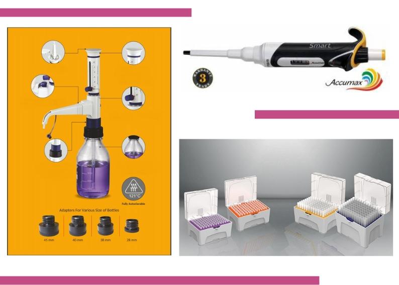 micropipetas, racks de tips, dispensadores Zelian equipamiento para laboratorios