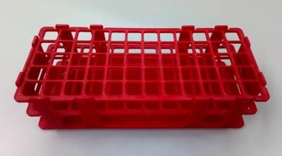 Gradilla plástica para 60 tubos de ensayo. Marca Numak