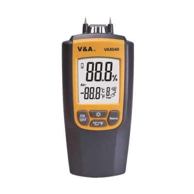 Medidor de humedad en materiales. Marca: V&A, modelo VA8040