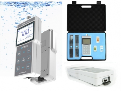 Phmetro portátil de pH/mV/Temperatura con almacenamiento GLP. Marca Apera USA, Modelo PH400S