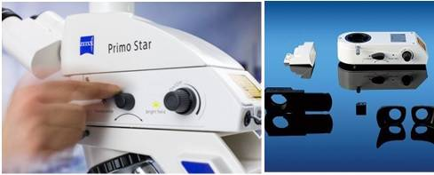 Sistema integrado de epifluorescencia LED de intensidad regulable para Primo Star. Marca Carl Zeiss, modelo iLED FITC 470 nm